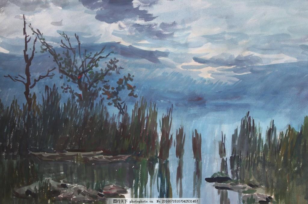 水粉风景画临摹囹�a_水粉风景 油画 水彩 风景画 速写风景 艺术绘画 文化艺术 绘画书法