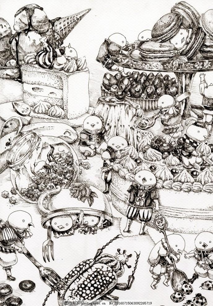 铅笔素描插画