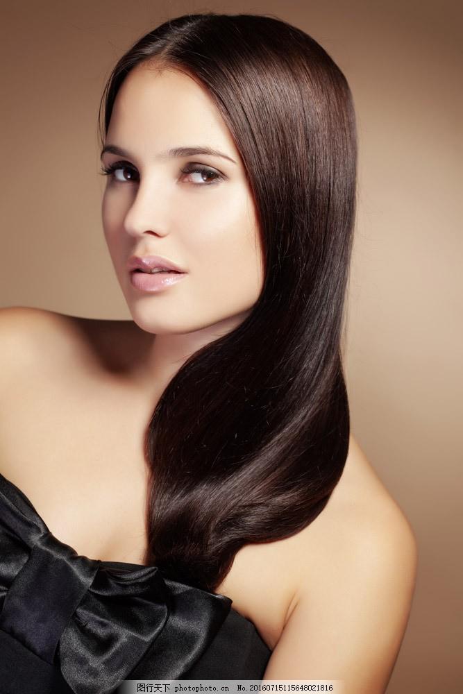 美发造型模特美女图片