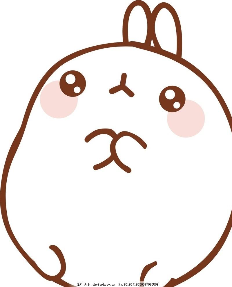 卡通小兔 卡通 动漫 兔子 动物 手绘 可爱 背景 装饰 设计 广告设计