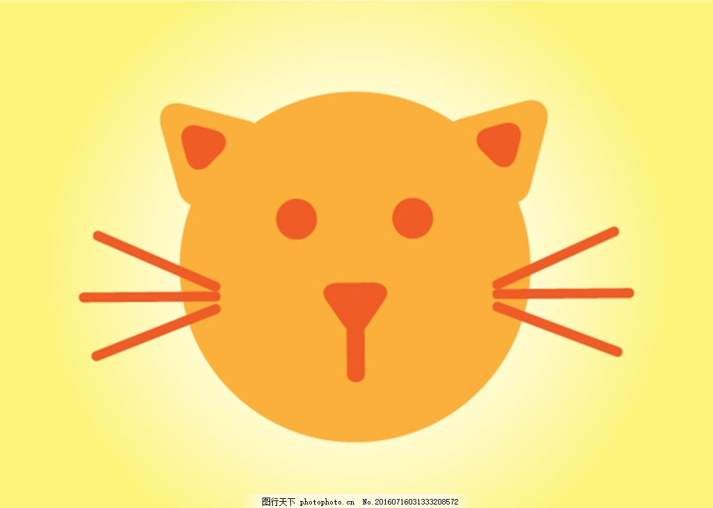 猫 宠物 矢量 狗 可爱的小狗 爪花纹 猫插画 动物标志 卡通小动物图片