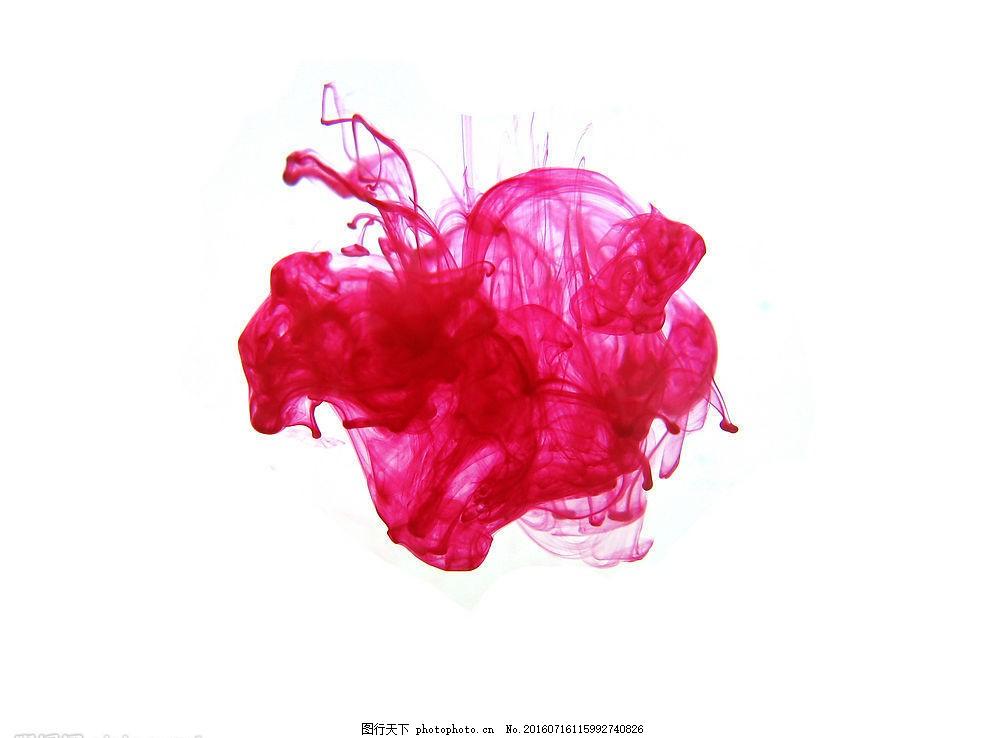 水墨相溶 水墨 红色墨汁 白底 红色墨水 文化艺术 其他 摄影图库 180
