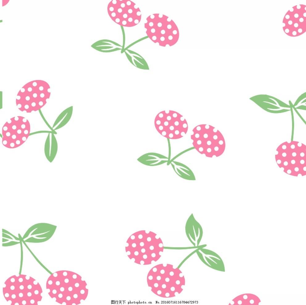 边框素材浅色樱桃