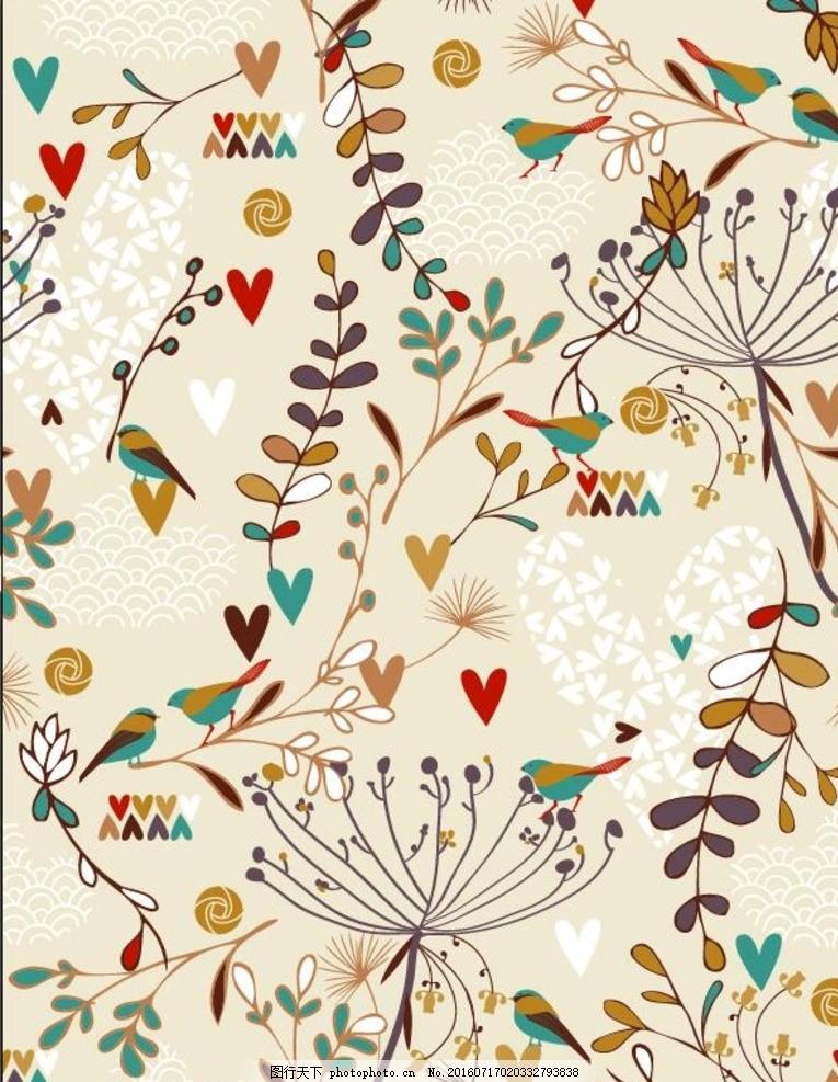 手机壳图案 清新 淡雅 矢量 花纹 纹理 底纺 背景 花朵 花卉 花草