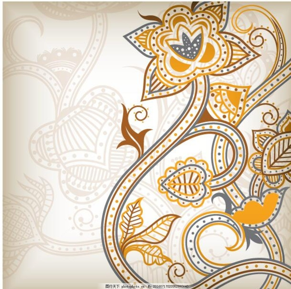 欧式花纹 抽象底纹 包装装饰 壁纸 花卉底纹 无缝图案纹理矢量 设计