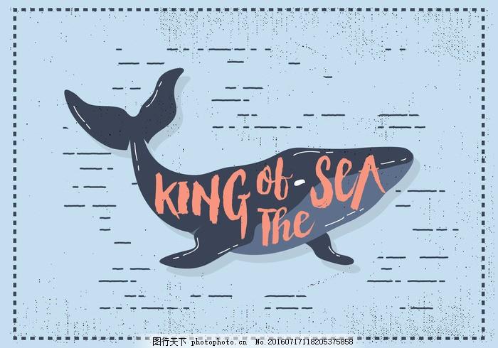 自由扁鲸矢量图 鲸鱼 斯堪的那维亚 模式 生活 花 精子 卡通