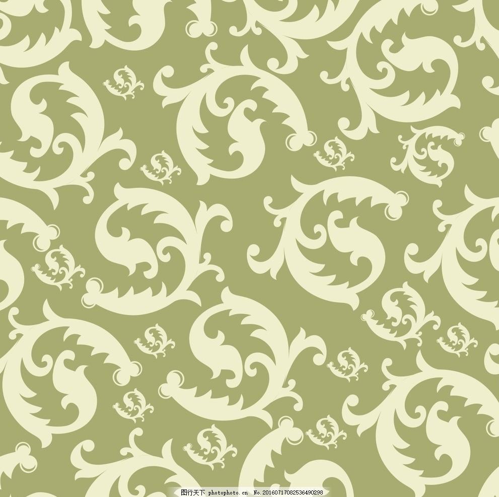绿色花纹背景 素材 布艺传统花纹 布纹背景 古典花纹背景 欧式花纹