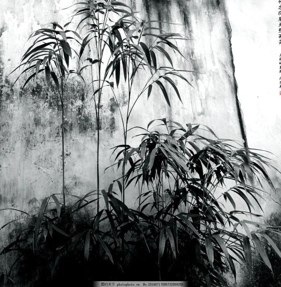水墨竹子写意国画 竹子画 水墨 竹子 写意 国画 黑白 中国画 中国风