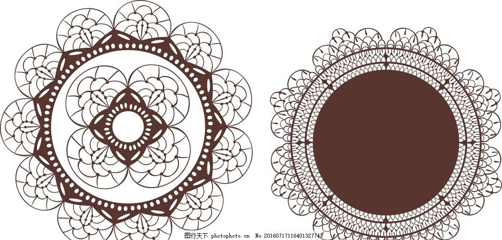 圆形蕾丝花纹 蕾丝花纹 蕾丝 婚礼logo 婚礼设计 欧式婚礼标志 婚礼