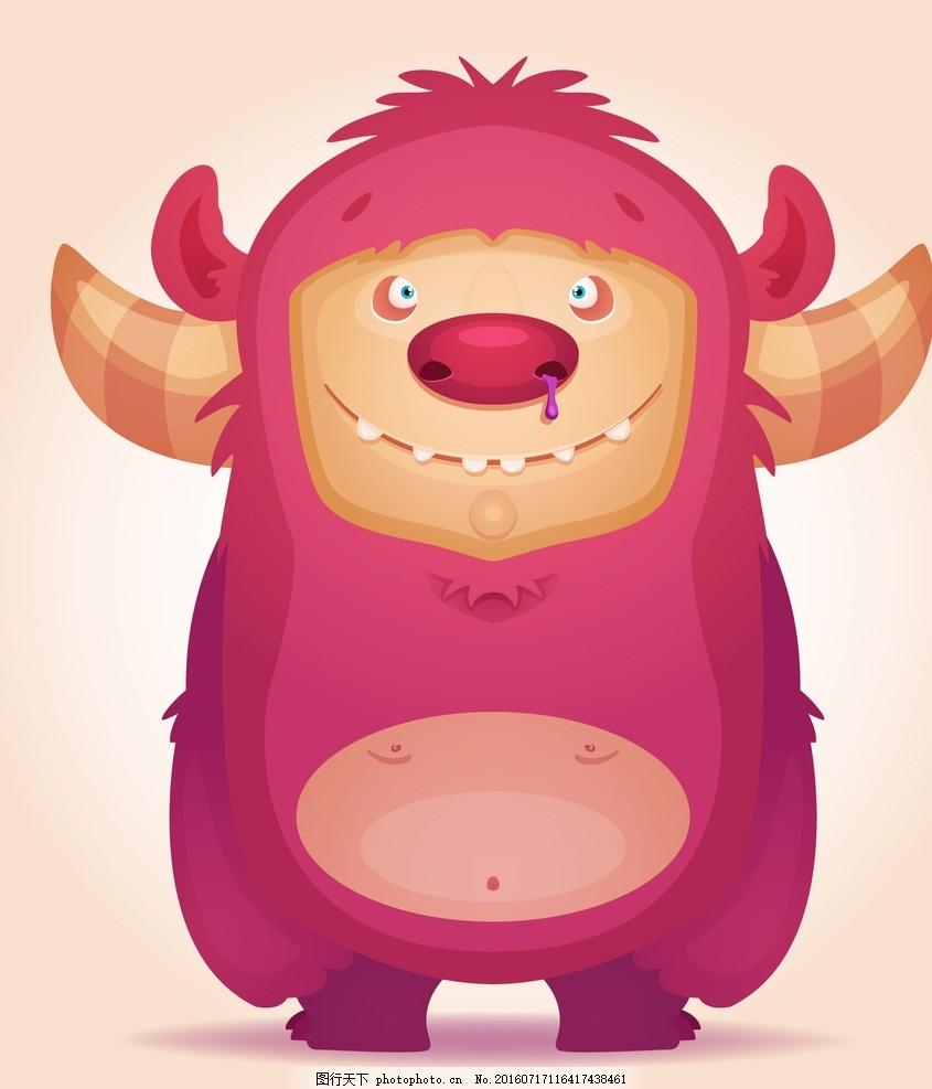 卡通怪兽 卡通动物 卡通形象 可爱动物 拟人化 矢量动物 设计 广告