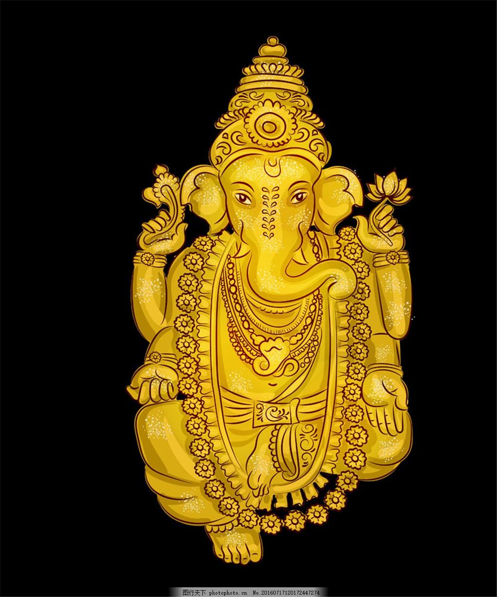 象神画像 金色画像 矢量 动物画像 创意画像