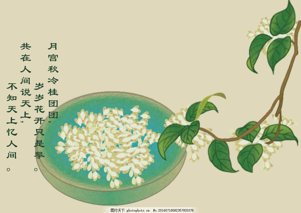 中国风中秋节桂花