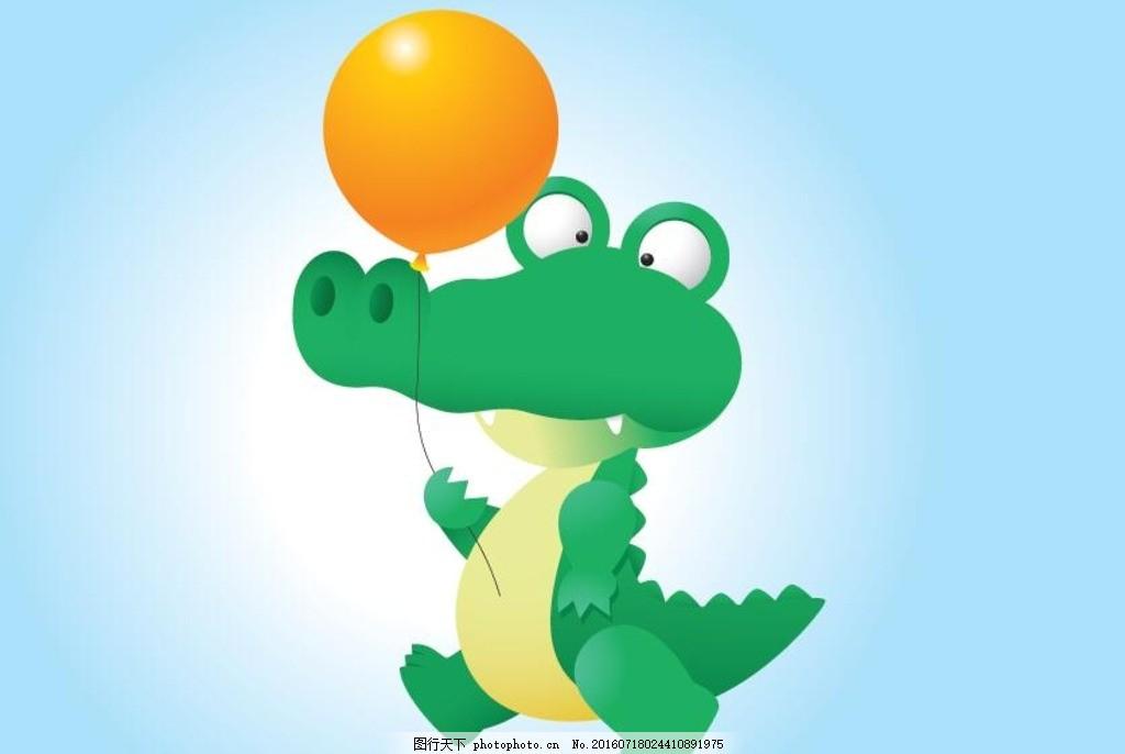 鳄鱼 标签 可爱 挂 大眼睛 卡通鳄鱼标签 鳄鱼卡通 动物 卡通小动物