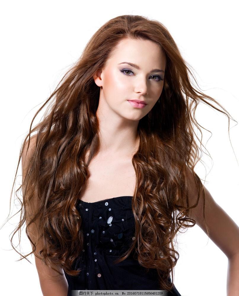 卷发外国美女 卷发外国美女图片素材 外国女人 美发 发型 造型图片