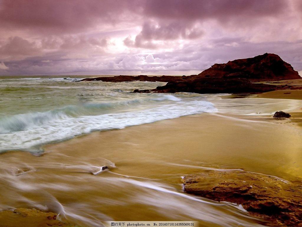 唯美海边沙滩风景图片下载 大海 海边 海岸 礁石 沙滩
