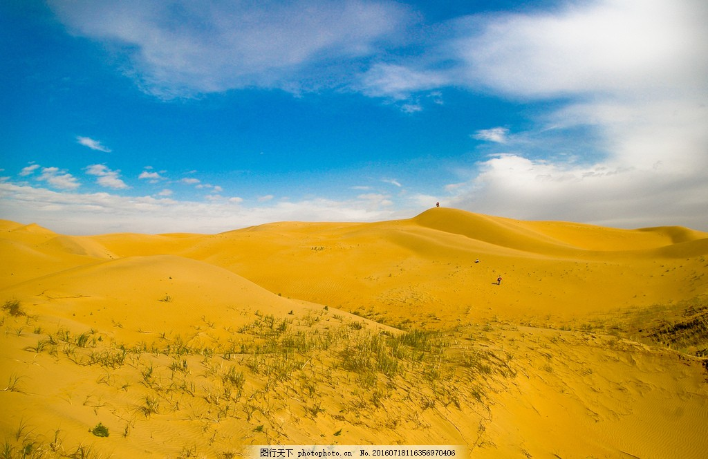 金黄色沙漠风景图片素材 金黄色 沙漠 沙子 沙堆 沙丘 黄金沙漠