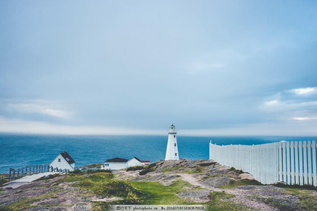 唯美海边灯塔风景高清图片下载 唯美灯塔 海岸 唯美 灯塔 大海
