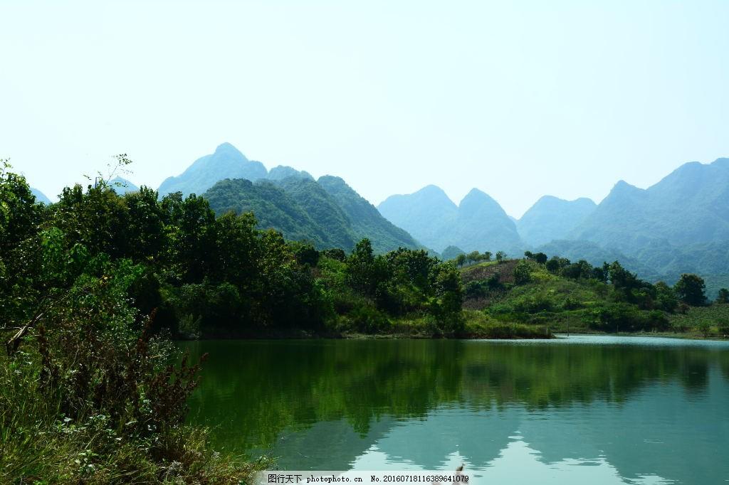 湖泊 风景 冷色 背景 抽象 自然风景 风景画 自然