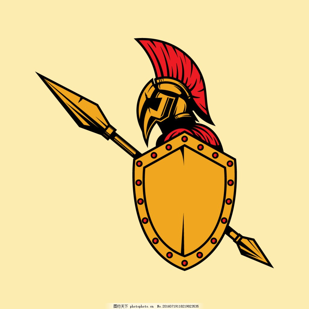 彩色罗马士兵背景
