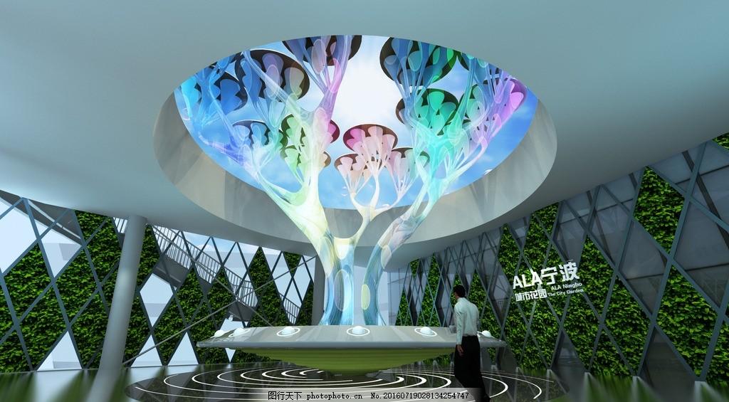 展厅设计 树形 装置