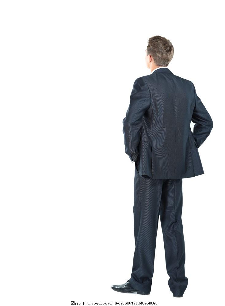 外国男人背影图片素材 人物 男人 背影 站立 恰腰 商务人士 人物图片