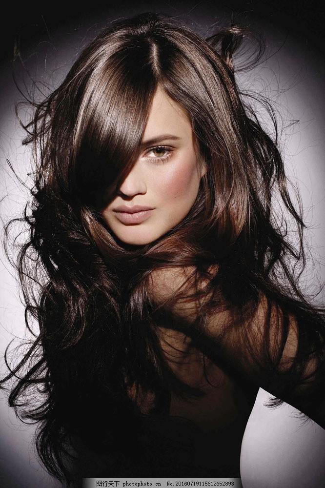 人物  头发飘逸的美女美发图片素材 美发美女 欧美 外国美女 模特图片