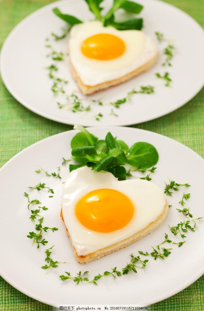 心形煎蛋爱心早餐 美食 食物 餐饮美食 传统美食 摄影