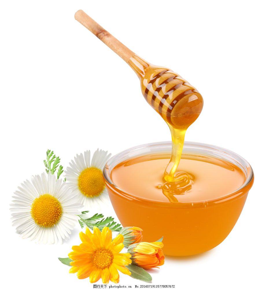 蜂蜜与鲜花图片素材 蜂蜜 蜂蜜罐 鲜花 菊花 传统美食 餐饮美食 摄影