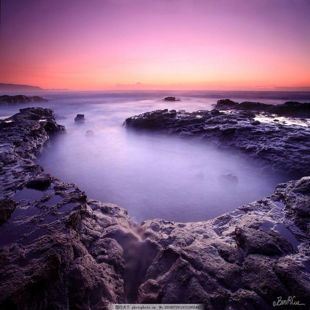 设计图库 高清素材 自然风景  唯美意境海滩风景高清图片下载 天空