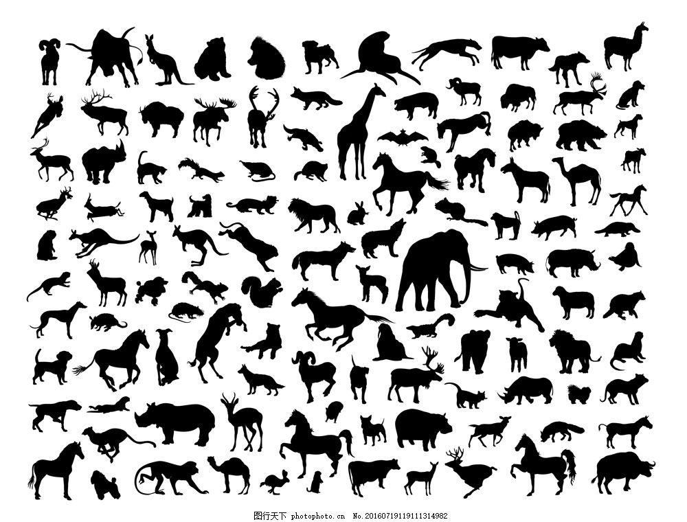 动物剪影设计 动物世界 广告设计 简笔画 生物世界
