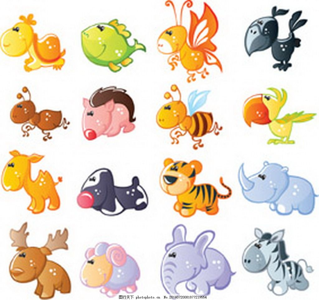 多姿多彩百变卡通动物