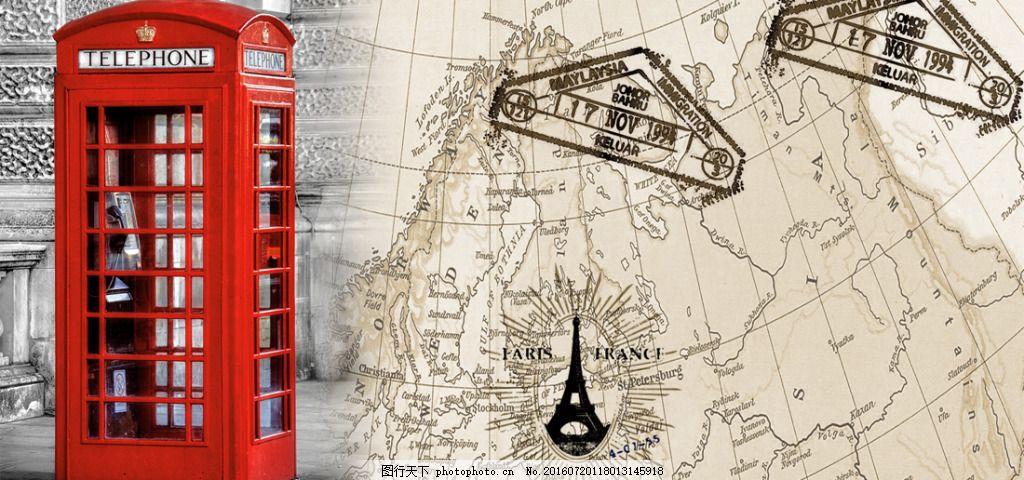 欧式素材150 欧洲 英伦风 复古装饰画 室内装饰画 邮箱 欧洲风格 装饰