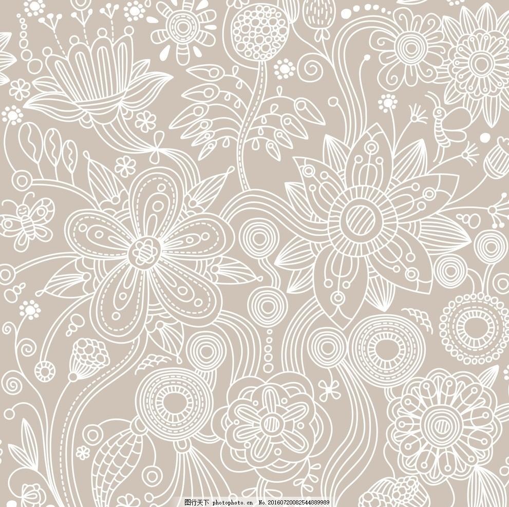 窗帘 墙纸 壁纸 欧式花朵背景 抽象花朵背景 抽象花朵花纹 欧式布纹
