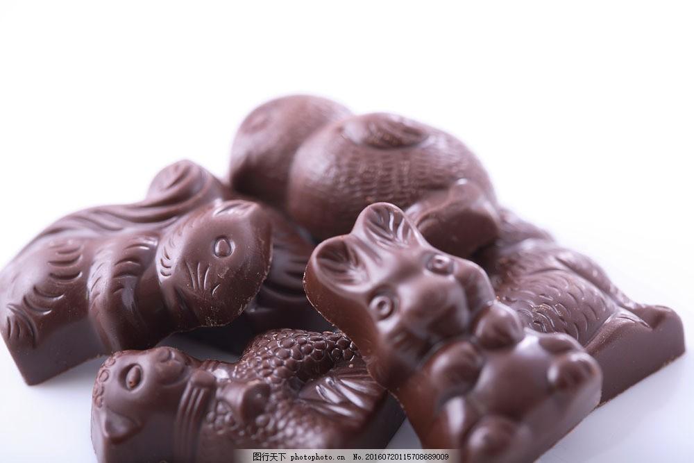 可爱动物巧克力 可爱动物巧克力图片素材 巧克力蛋糕 巧克力面包