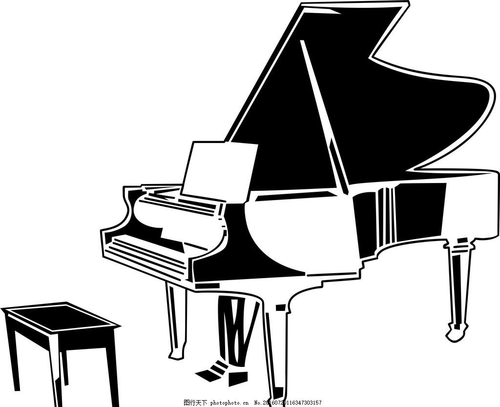 浅蓝的ppt钢琴背景