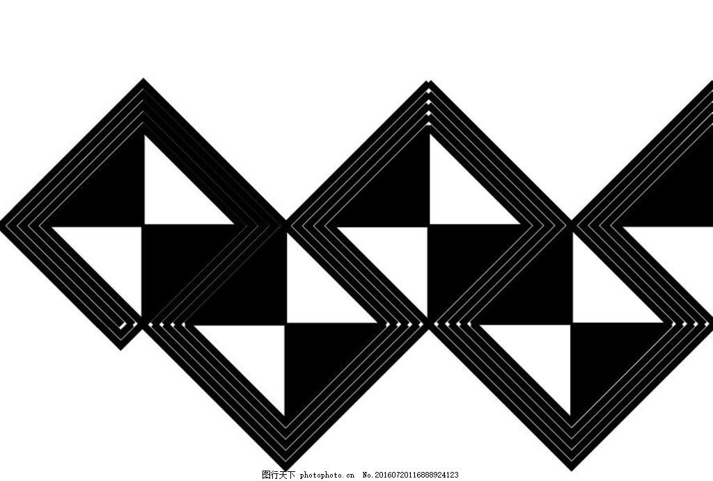 手绘平面创意几何囹oh
