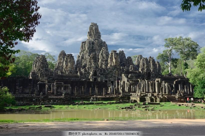 柬埔寨巴戎寺风景