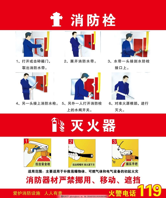 防火 消防 消防栓 使用方法 灭火器 119 消防器材 灭火步骤