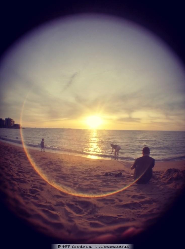 落日 夕阳 黄昏 夏天 海边 摄影 自然景观 自然风景 72dpi jpg
