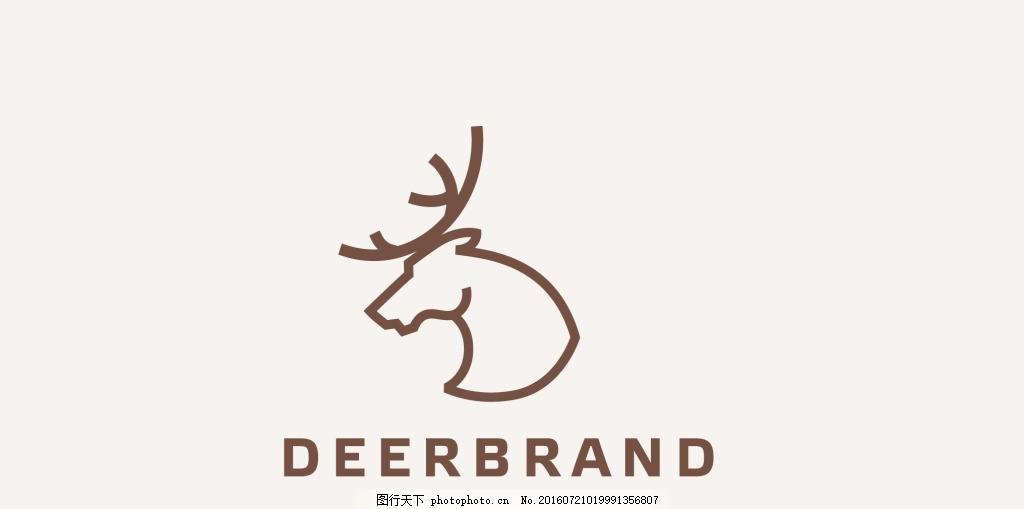 梅花鹿动物logo标志