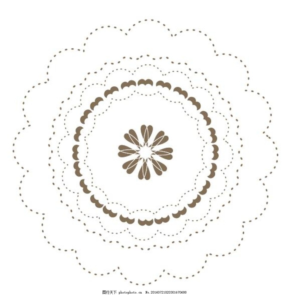 古典圆形花纹矢量素材 矢量传统图案 传统纹样 精美 图形 古典花纹