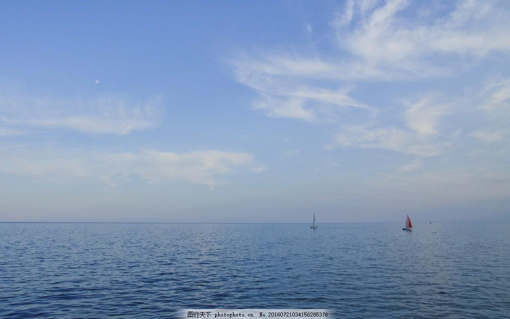天空 蓝色天空 蓝天 白云 天空白云 蓝天白云 大海 海面 海水 蓝色