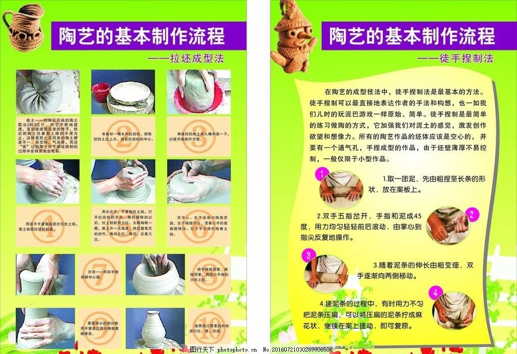 陶艺制作流程展板