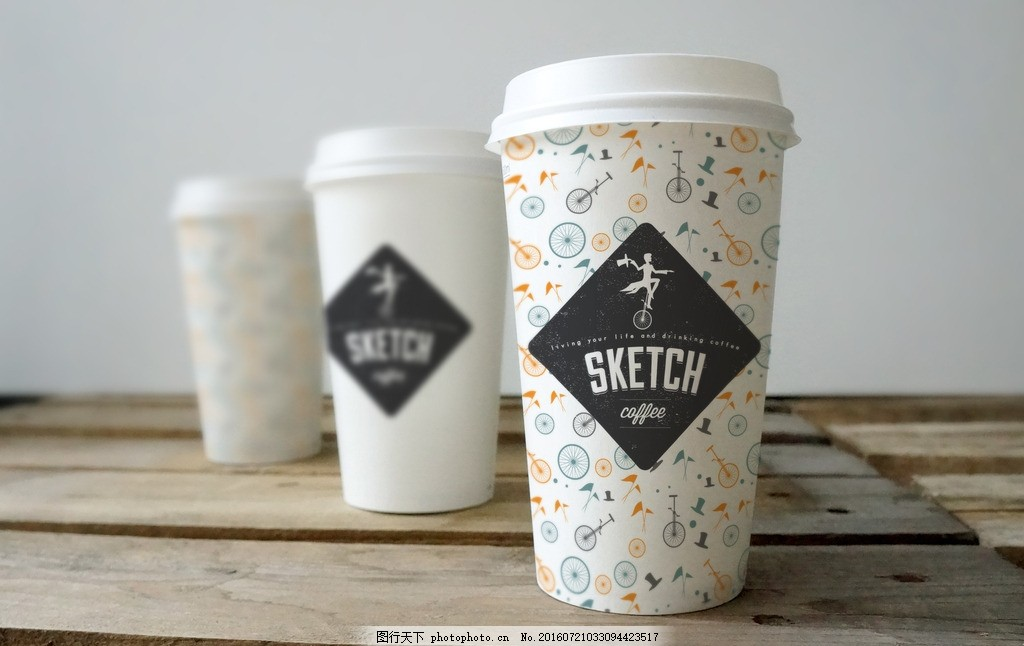 咖啡杯样机,效果图 纸杯 纸杯设计-图行天下图库