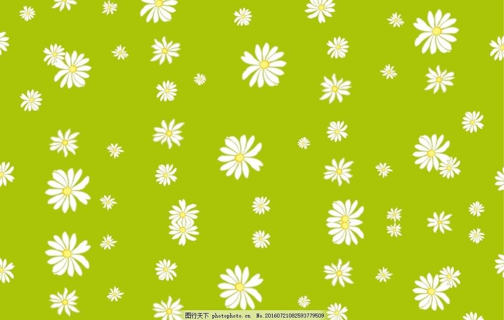 手绘 手绘花卉花朵 花卉底纹背景 花卉 鲜花 插画 背景 海报 绿色菊花