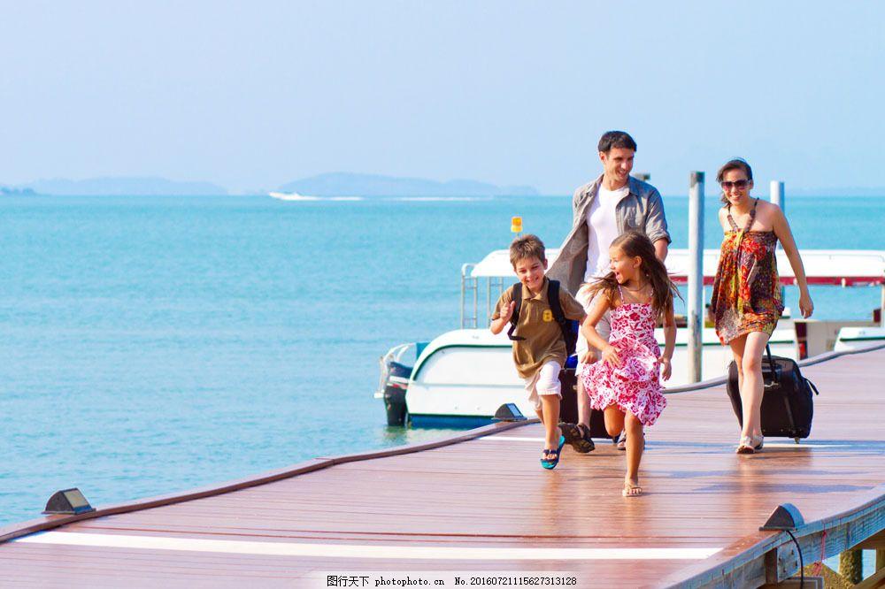 一家人去旅行图片素材 一家人 海边 旅行 旅游 生活人物 生活人物