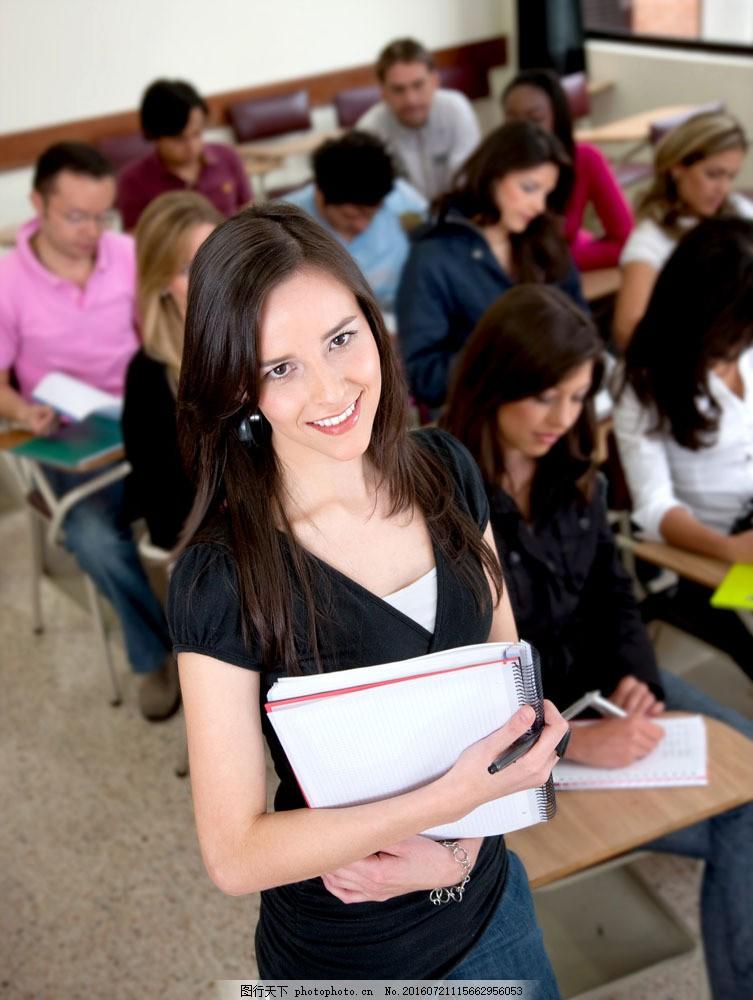 正在上课的大学生图片素材 教育 学校 教学 大学生 外国学生 上课