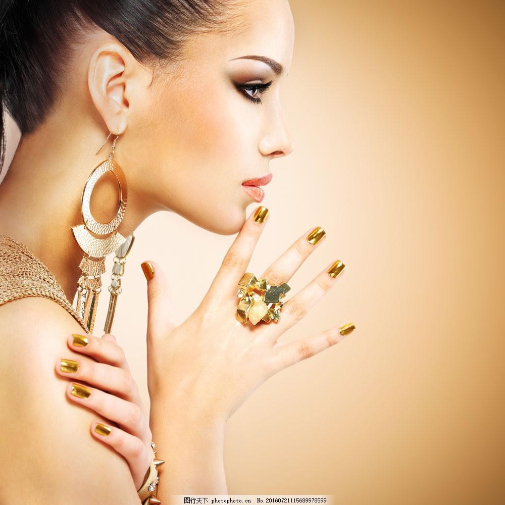 美甲美女模特图片素材 美甲 化妆造型模特 彩妆模特 时尚美女 性感图片
