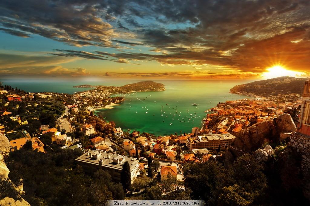 唯美摩纳哥黄昏风景 唯美的摩纳哥黄昏风景图片下载 摩纳哥 唯美意境