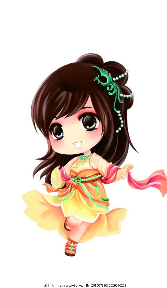 古装美女 可爱女孩 小公主 俏皮 q版卡通 设计 动漫动画 动漫人物 300